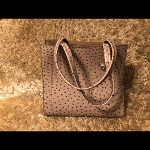 Grey Ostrich shoulder bag